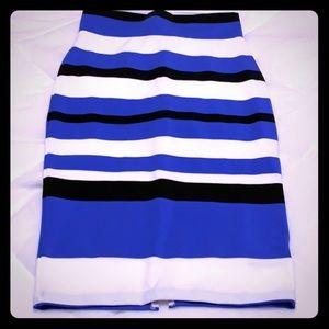 Bebe Stripe Skirt